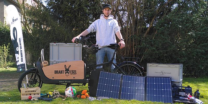 """""""DRAHTESEL"""" trägt Jugendarbeit in den öffentlichen Raum - Mit dem Lastenrad für Jugendliche unterwegs"""