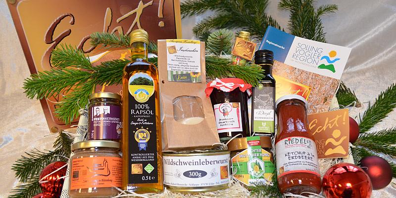 Mit Echt!-Produkten ein Stück Heimat zum Weihnachtsfest verschenken - Regionalmarke der Solling-Vogler-Region im Weserbergland