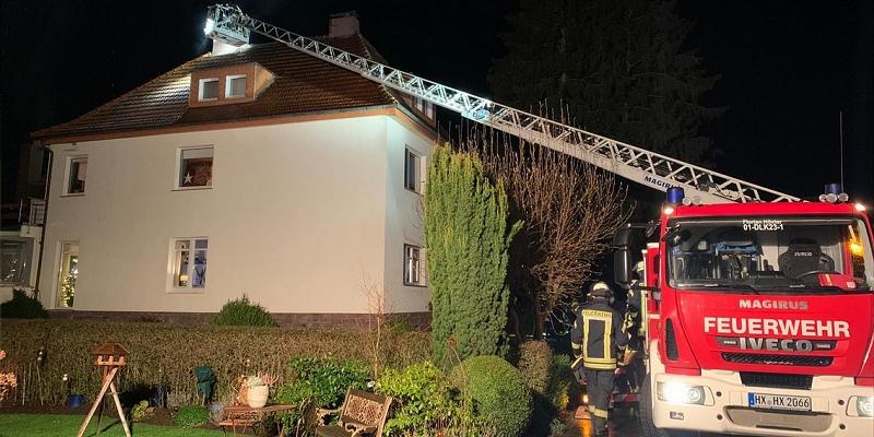Kaminbrand in Lüchtringen: Brand schnell im Griff
