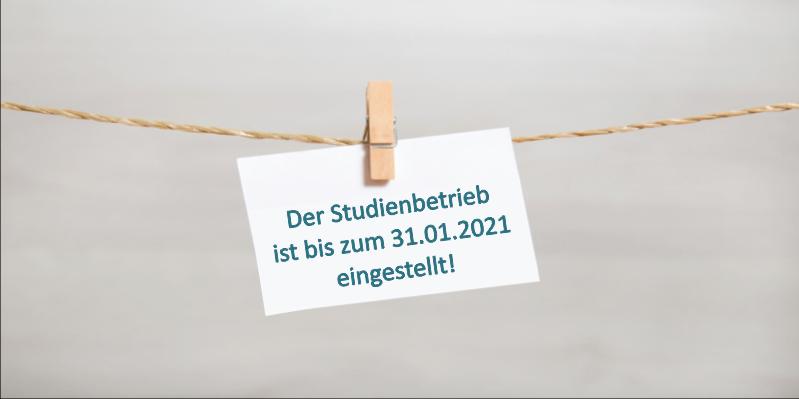 Institute Dr. Schrader: Keine Durchführung von Studien bis zum 31. Januar