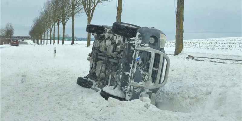 14 Unfälle auf glatten Straßen im Kreis Höxter
