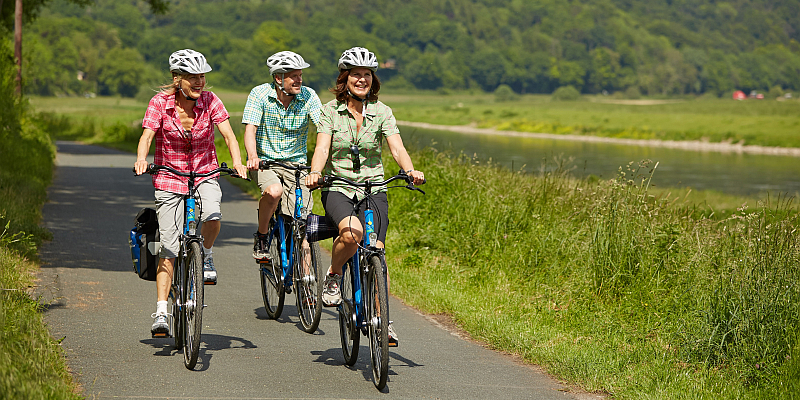 Rabatt für Frühbucher: Radtour auf dem Weser-Radweg