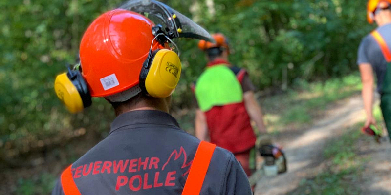 Motorsägenausbildung bei der Feuerwehr der SG Bodenwerder-Polle