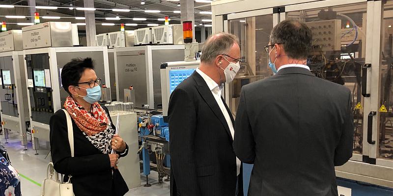 Ministerpräsident Stephan Weil zu Besuch bei Noelle+von Campe in Boffzen