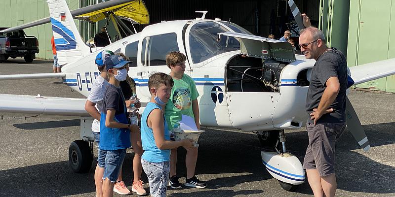 Ferienspass-Erlebnistag auf dem Flugplatz Höxter-Holzminden