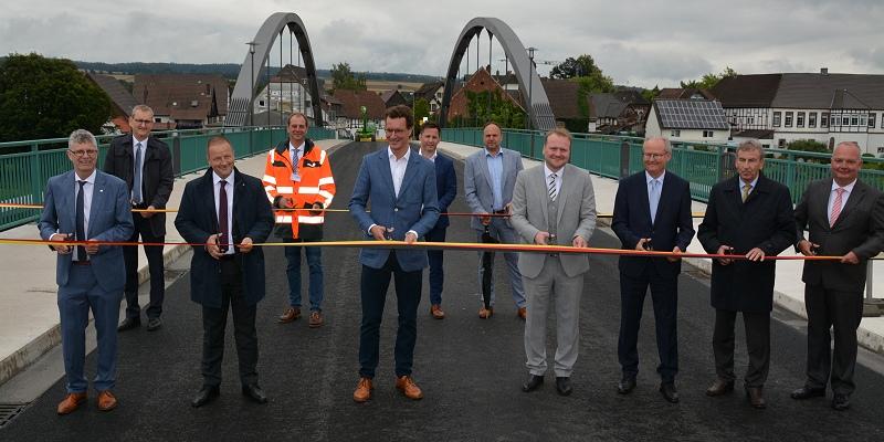 Weserbrücke Beverungen-Lauenförde feierlich freigegeben