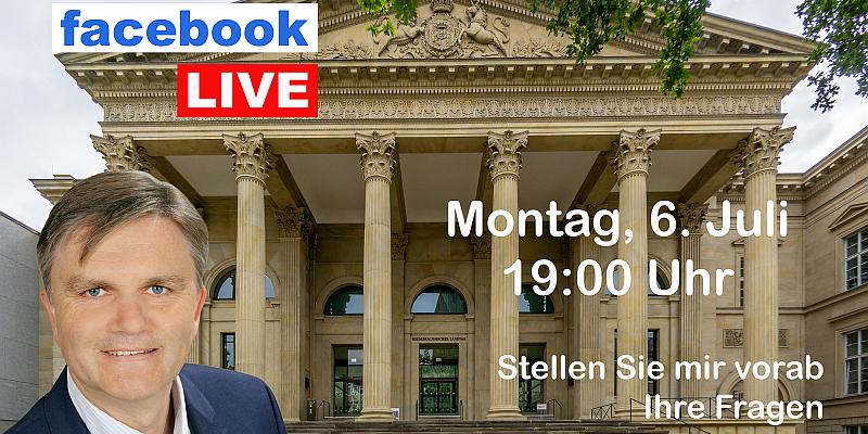 Landtagsstammtisch mit Uwe Schünemann am 6. Juli 2020 live im Internet
