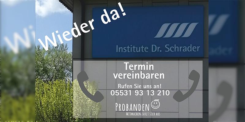 Mit Sicherheit – Die Institute Dr. Schrader öffnen wieder ihren Testbetrieb