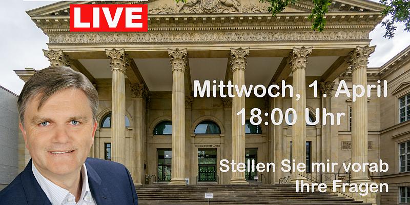 Landtagsstammtisch mit Uwe Schünemann live im Internet