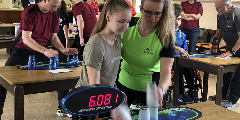 """Sport """"Stacking"""" : Vorbereitung auf die Deutschen Meisterschaften in Höxter"""