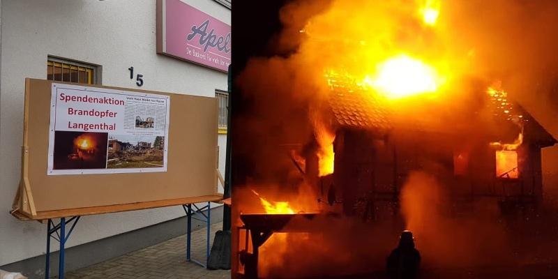 """""""Sie besitzen nur noch was sie am Leib trugen"""" - Feuerwehr organisiert Spendenaktion nach Großfeuer in Langenthal"""