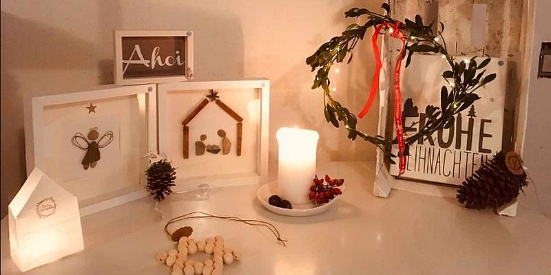 Adventsfenster in Albaxen eröffnet mit Kaffeetafel und Basar