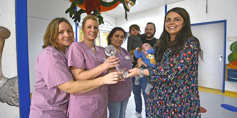 Ein ganz besonderer Pokal: Ben Gobrecht kommt in 32. Schwangerschaftswoche zur Welt - Eltern loben