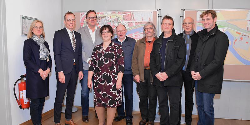 Fachjury des Planungswettbewerbs für die Landesgartenschau empfangen Landschaftsarchitekten in Höxter
