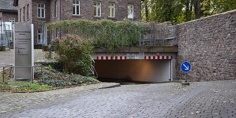 Tiefgarage und Gartens des Stadthauses ab 1. Dezember außerhalb der Dienstzeiten geschlossen