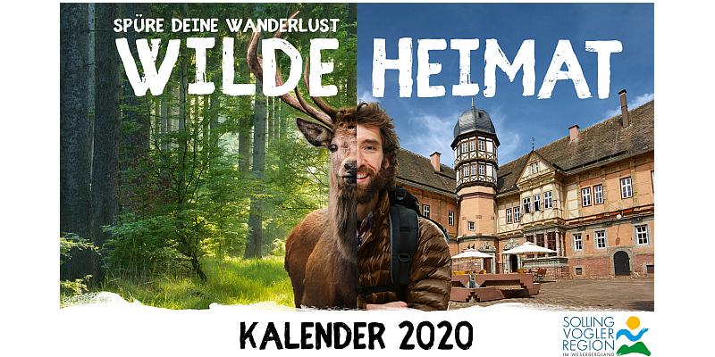 Mit der Wilden Heimat durch das Jahr 2020: Solling-Vogler-Region im Weserbergland präsentiert wilden Kalender