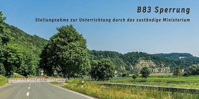Sperrung B83 bei Steinmühle: Uwe Schünemann: Wirtschaftsministerium sichert größtmögliche Unterstützung zu